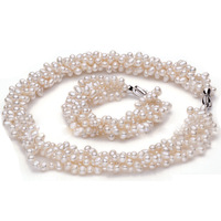 Fashion design Real Culture Pearl Jewelry Set  Women's Birthday Gift Wedding Jewelry Set