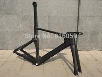 Full Carbon Matt ( UD) Triathlon Time Trial TT Bike Frameset  :  frame , fork , seatpost , clamp , headset , stem . handlebar