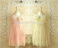 teenger girl dress children party dresses summer New design Korean High lace pearl Hook Subtle sweet fairy 5 pcs/lot 8-14 years