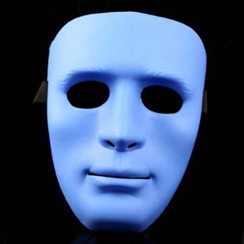 Masked dancers Qi Sheng Quan JabbaWockeeZ dance ghost step dance hip-hop mask white men thick section - male blue(China (Mainland))