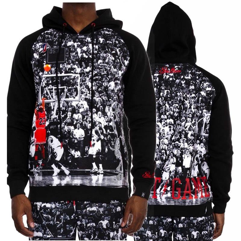 Raisevern new clothes basketball star Jordan game-winning shots print fashion hoodie spring fall hood sweatshirt(China (Mainland))