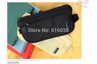 Travel security personal little pockets Multi-functional sports bag ultra-thin passport wallet  Men and women Waist Bag