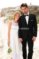 2015 Newest Black Groom Tuxedos terno noivo Prom Wedding Men Suits Groomsman Dress (Jacket+Pants+Tie) S219