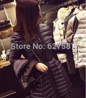 2015 Winter designer brand style Women Ultra Light Down Jacket Warm and show thin Long Sleeve Brief Women Duck Down Jacket