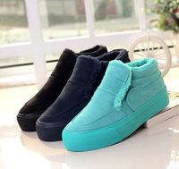 A simple set of foot pedals padded shoes low top canvas shoes lazy shoes sneakers classic black and dark blue, fresh green Woman