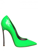 Newest 2015 Casade Green Patent leather blade pumps Women genuine leather shoes/pumps free shipping