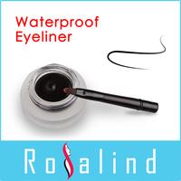 Rosalind 2015 New Makeup Brand Water Proof Black Eyeliner Gel to Eye Cream with Brush Free Shipping
