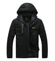 2015 camel breathable Men spring Jacket Outdoor jacket Sportswear Hooded waterproof windbreaker jacket casual men Wolfskins