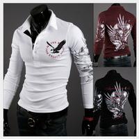 t shirt 2015 New brand Mens T Shirt Men's long Sleeve T Shirt slim fit men shirt fashion t-shirt plus XXXL