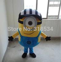 fast shipping  Despicable me minion mascot costume for adults despicable me mascot costume