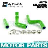 Silicone Radiator Heater Hose Fit For Kawasaki KX 85 KX85 2001-2012 GREEN