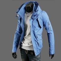 2015 New Arrive Men Jacket Plus Size Fashion Casual Slim Cotton Jackets 5XL xxxxxl 4XL xxxxl Big Yard Size Jackets and Coats