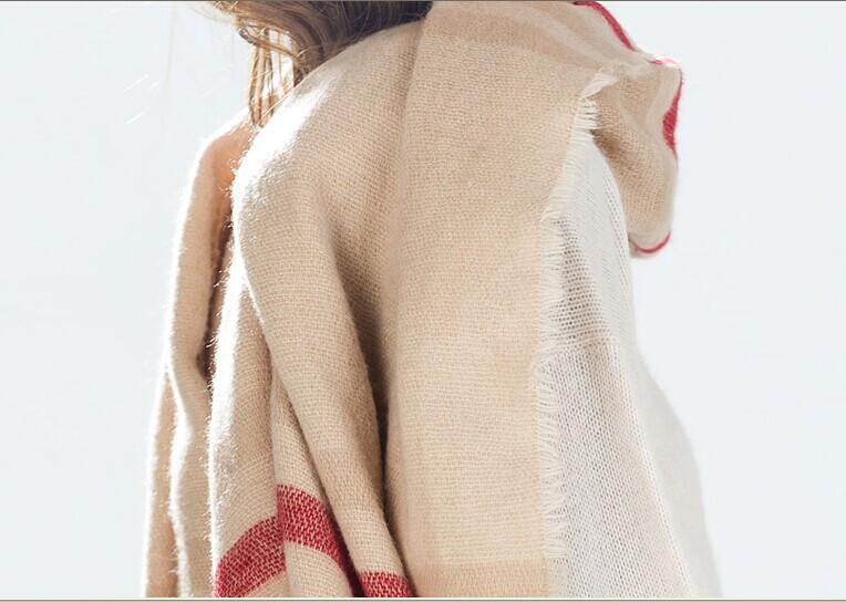 2015 New ZA oversized brand Scarf Woman's Winter Warm Shawl acrylic Thicken Cape Gift Free Shipping(China (Mainland))