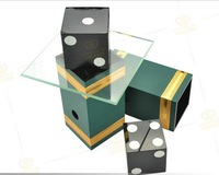 Free shipping! Dice Penetration Glass Impossible Die Penetration, Stage Magic Tricks,Illusions,Mentalism Magic Props