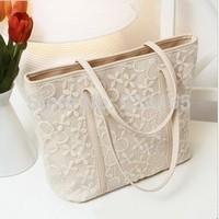 Fashion Lace Women Casual Tote 2 Colors Women Handbag Leather Shoulder Bags Laides Satchesl Hobo Purse