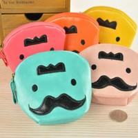 Fashion Bags Cute Big Beard Face Designs Portable Coin Purse Hard Key Earphone Holder Case Bag FH-011