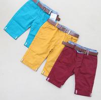 QT71 summer casual dress new 2015 brand kids shorts with belt 2-8 age boys pants free shipping 5pcs/ lot