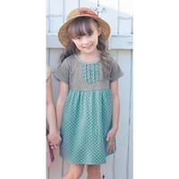 [Sashine kids]Brand cotton retails girls summer LOLITA cute dot dresses children girls summer clothing with pocket dress 2015
