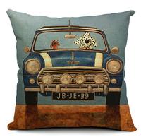 linen dog cushion cover decorative pillow case british style modern fundas cojin
