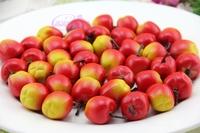 60PCS Free Artificial Fruit & Vegetables Simulation of plastic small red apple Mini fruit model Decoratio educationtoys