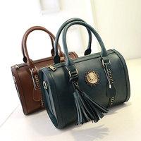 Fashion Boston Handbag Genuine Leather Crossbody Bags Women's Shoulder Bag Free Shipping European Women Messenger Bag