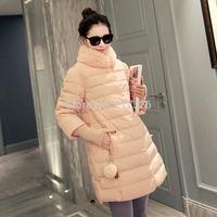 2015 winter women's elegant brand  medium-long turtleneck thermal slim wadded jacket cotton-padded jacket outerwear female coat