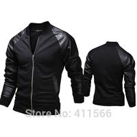 Men's Korea Tide Stand Collar Raglan Sleeve Splice Baseball Uniform Jackets Slim Fit Stand Collar Coats 2015 Style Free Shipping