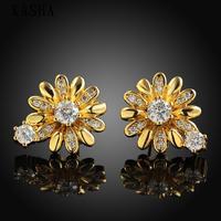 Free shopping 18K gold plating earrings Fashion High Quality zircon earrings KASHAE023