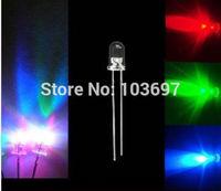 100pcs 5mm Fast RGB Flash Rainbow Multi Color Red Green Blue LED