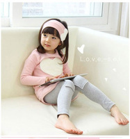 3PCS LOVE SET Baby Girls  Band Shirts Pants Pink Red Heart Baby Kids Suits Children Clothes Sets For Girl Pajamas Homewear