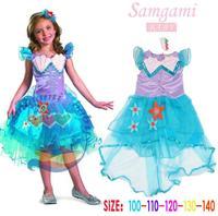 Samgami Baby Brand Girl Dress Mermaid dresses of the girls Cartoon princess dress Birthday Party Kids Wear