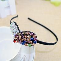 New 2015 fashion AB crystal hairbands heart shape headbands for women hair accessories girls headwear hair jewelry