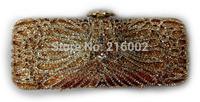 Ladies crystal wedding bag in GOLD, GREY. Female fashion evening clutch bag. Elegant purse.