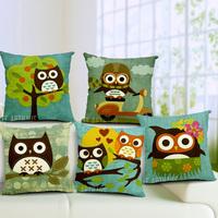 Novelty Christmas gift cute bird plane pattern cushion cover home car decorative throw pillow case pillow Cover seat cushion