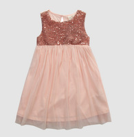 1pcs,18M-8T Baby Girls Dress Kids Pink Girls Princess Dress Sequined Cosplay Costume girl party dresses,free shipping