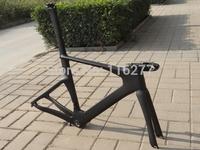 Full Carbon Matt ( UD) Triathlon Time Trial TT Bike Frameset  :  frame  fork handlebar  seatpost  clamp headset stem