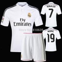 14/15 Real Madrid Soccer Jersey RONALDO Cristiano Ronaldo Football Shirt Jersey Set
