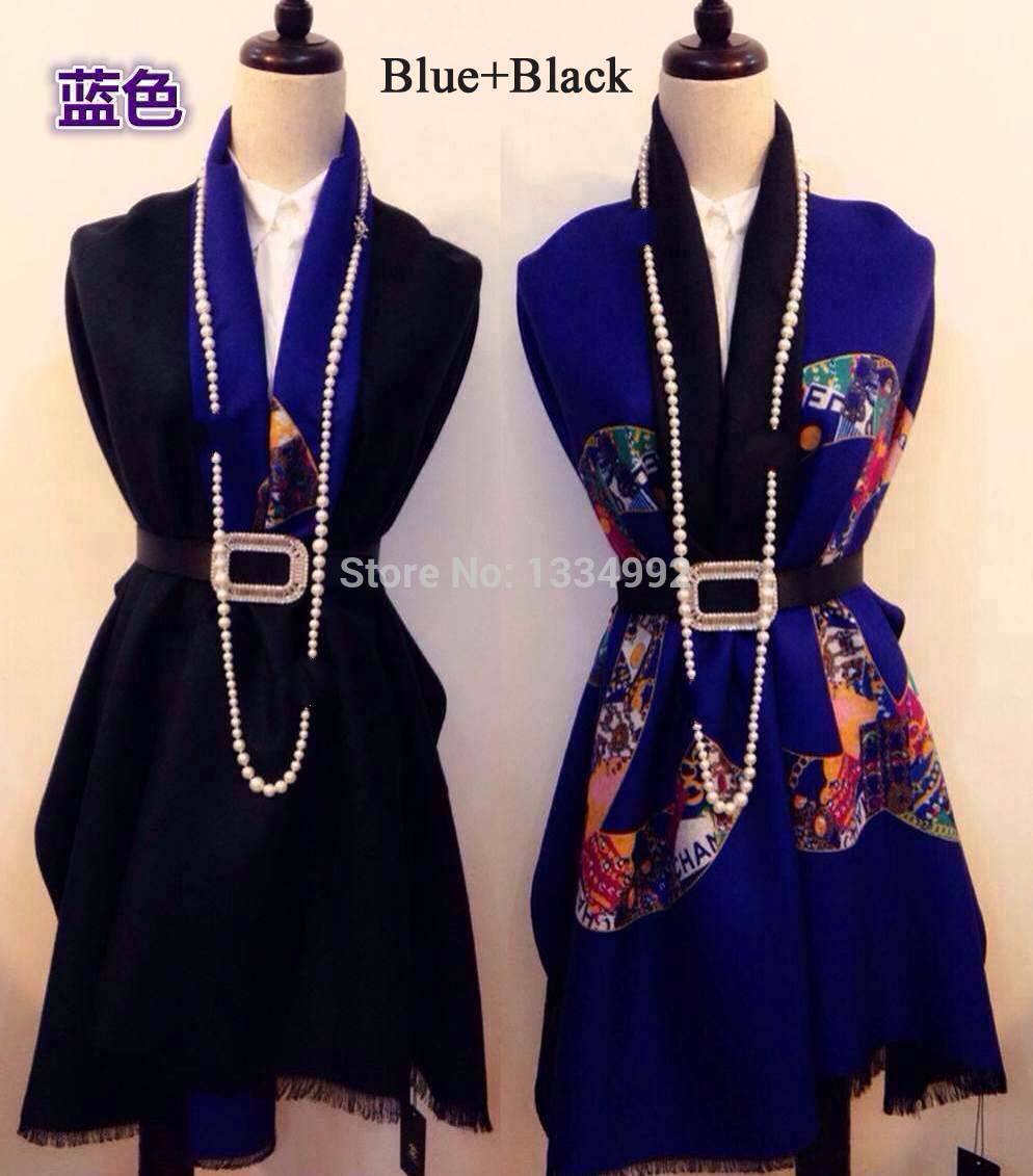 Famous Brand Classic Autumn&Winter Women Cashmere Scarf 1.85cm Long Elegant Pashmina Shawl Wrap Scarves Best Xmas Gift 3colors(China (Mainland))
