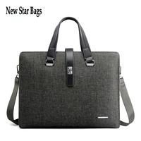 HOT SALE Large capacity men's business bag fashion Cross-section PVC men shoulder messenger bag.TS142A