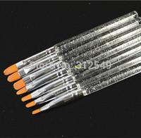 7 size Pro pcs Acrylic Nail Art Brush pen Set Manicure UV Gel Tips for Nails DIY Nails Tools #NAO26