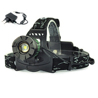 1800Lumens CREE XM-L T6 LED Adjustable Zoomable Headlamp Headlight Head lamp Flash light Torch+charger
