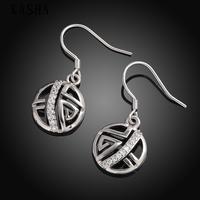 Free shopping 18K gold plating earrings Fashion High Quality zircon earrings KASHAE019