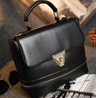 2015 New Women's shoulder bag Faux Leather Handbag Women Crossbody Bags Bolsas Vintage Women Messenger bag  From Guangzhou