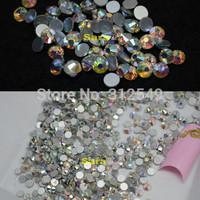 1440pcs Nail Art FlatBack Crystal AB Glitter Color Rhinestones 3d Nail Art Cell phone Sticker Decorations DIY nail Tools#NAO32