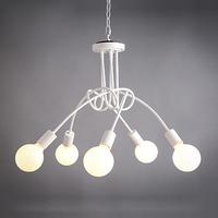 Korean cafe creative personality living room bedroom 5 iron chandelier lift chandelier lights