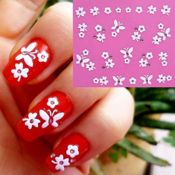 Наклейки для ногтей 3D nail sticker 2015 3D born pretty 6 sheets 3d adhesive holo nail sticker ultra thin laser line candy nail foil decal