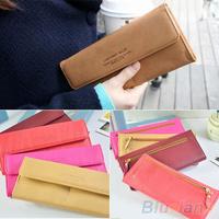 Women's Fashion Long Card Holder Faux Leather Evening Bag Clutch Purse Wallet