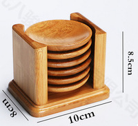 7pcs Bamboo Wood  Round Trays For Tea Trays With Shelf For On Sale, 100% Natural
