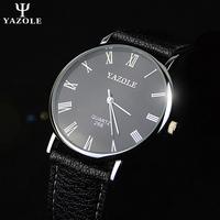 watch men 's leather belt Korean fashion slim roman numerals non- mechanical watches quartz watch a couple of students watches