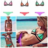 2015 sexy bikini swimwear triangle neoprene swimsuit free shipping